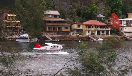 berowra waters seaplane taking off